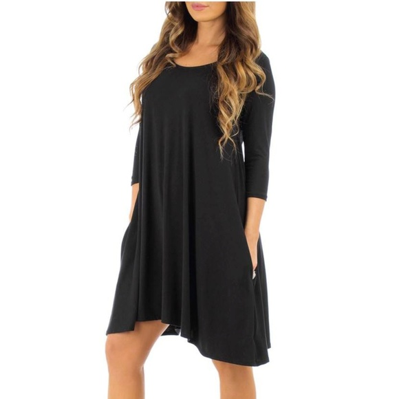 Rags and Couture Dresses & Skirts - Women's Cross-Back Dress with Pockets.